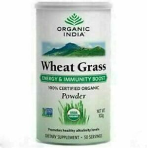 Organic India Wheat Grass Powder 100 gm Super food//100% original//sealed pack