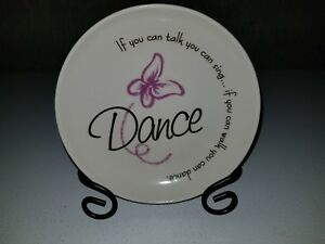 If you can....Dance display plate and stand