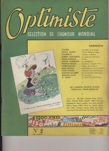 (136) Optimiste Sélection de l'humour mondial N° 2 (Guitry-Colette-Daninos...)