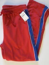NWT Alternative Apparel Women's L Red Blue Sweatpants Track Pants Lounge Casual