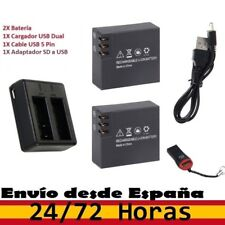 Pack 2 Baterías para Excelvan 3.7V 900mAh + Cargador USB Dual. ActionCam - 4K Q8