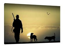 CACCIA 30x20 POLLICI a muro Art-Gun Dog stampa foto incorniciata