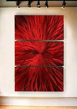 Metal Abstract Modern Red Large Wall Art Painting Home Office Decor