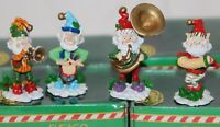 Enesco The North Pole Village Elves Musical Figures  Sandi Zimnicki Lot of 4