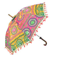 VOGUISH DESIGNER EMBROIDERED MULTICOLORED UMBRELLA