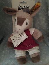"Steiff Baby New 11""  Issy Donkey Girl or Boy Cuddle Toy Made In Germany W/ COA"