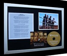 WESTLIFE You Raise Me Up LIMITED CD MUSIC FRAMED DISPLAY+EXPRESS GLOBAL SHIPPING