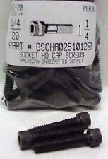 1/4-20x1-1/4 Hex Socket Head Cap Screws Alloy Steel Black (20)