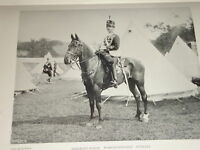1898 Sergente Major Worcestershire Hussars Cavalleria