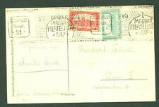 Hungary 1921, Philatelic Expo card w/special roller cancel, Vf