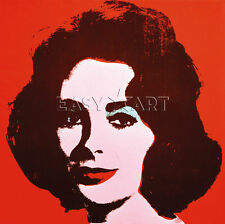 Liz, 1963 (red) by Andy Warhol Art Print Elizabeth Taylor Pop Poster 11x14