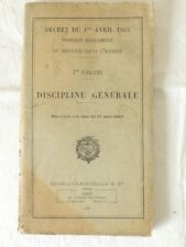 Reglement du service dans l'armée Discipline géneral '' Charles LAVAUZELLE''1945
