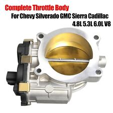 For Chevy Silverado GMC Sierra Cadillac 4.8L 5.3L 6.0L V8 Complete Throttle Body