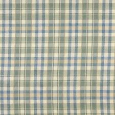 H488 Blue Beige And Green Textured Plaid Upholstery Grade Fabric By The Yard
