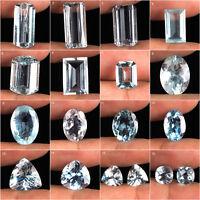 Top Natural Aquamarine Unheated Sparkling Santa Maria Beautiful Gems