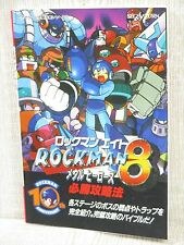 ROCKMAN 8 MEGAMAN Metal Heroes Guide Sega Saturn Book FT18*