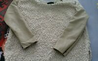 Jersey de mujer borriguillo oveja talla L color lana beige material PU