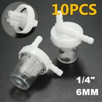 10pcs 6mm Clear Universal Motorcycle Fuel Filters Inline Gas Petrol Pit Bike ATV