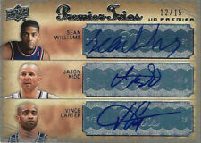 JASON KIDD/VINCE CARTER/SEAN WILLIAMS 2007-08 UD PREMIER AUTOGRAPH TRIOS #12/15