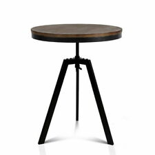 Artiss BA-TW-V17-COF-TAB Round Dining Table - Dark Brown