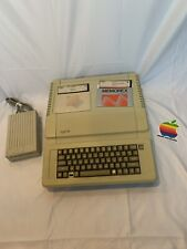 VINTAGE APPLE IIE COMPUTER EARLY DESKTOP  1982 With Floppy Disks And Disk Drive