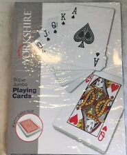 "Nearly New Super jumbo Playing Cards Fun Games Jumbo Card Set Of 52-- 8""X11"""