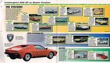 LAMBORGHINI Timeline History Brochure:COUNTACH,350 GT,URRACO,MIURA,ESPADA,JALPA,