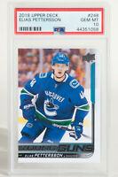 2018 Upper Deck Young Guns Elias Pettersson Canucks Rookie RC #248 PSA 10