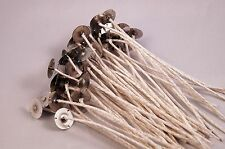 """25 HTP 105 Tabbed Large Cotton Candle Wicks ~ 6 """" Long Great for Soy Wax"""