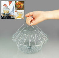 Confident 1pc High Quality Foldable Steam Rinse Strain Fry French Chef Oil Fry Basket Mesh Mesh Basket Strainer Net Kitchen Cooking Tool Colanders & Strainers