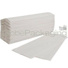 240 x WHITE 2 PLY C-FOLD PAPER HAND TOWELS MULTI FOLD