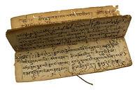 16 Pagine Manoscritto Tibetano Antico Lira Da Preghiera Mantra Buddista 9135
