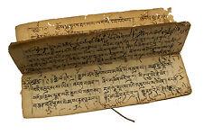 16 PAGES MANUSCRIT TIBETAIN ANCIEN LIVRE DE PRIERES -MANUSCRIPT TIBETAN- 9135