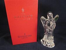 WATERFORD CRYSTAL Nativity Angel with Lute ~ EXCELLENT with Sticker in Red Box