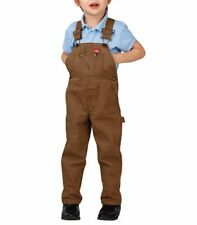 Dickies Classic Fit Toddler Rinsed Brown Duck Bib Overalls Size 4T New With Tags