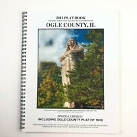 2012 Plat Book OGLE COUNTY, IL Aerial Maps City Village Street Includ. PLAT 1912