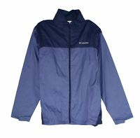Columbia Mens Glennaker Lake Rain Jacket Blue Small S Full-Zip Hooded $60 160