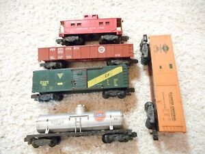 S SCALE AMERICAN FLYER #802, 922, 925, 904 AND 24106 CAR GROUP