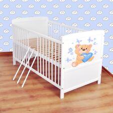 Babybett  Kinderbett - Juniorbett umbaubar 140x70 Weiß nr 28