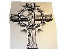 Cross With Crown of Thorns T-shirt    FREE VINYL STICKER WITH PURCHASE