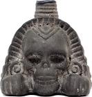 Screaming Aztec Death Whistle Obsidian Black