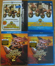 Super Troopers 2 Movie Collection w Retro VHS Slip Cover Blu Ray DVD Digital NEW
