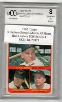 1965 Topps  Killebrew/Powell/Mantle Home Run Leaders Graded BCCG 8