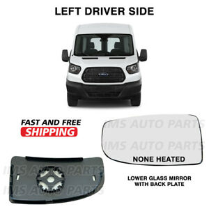 Ford Transit 250 350 Lower Small Mirror Glass Non-Heated Left Driver 2014-2018