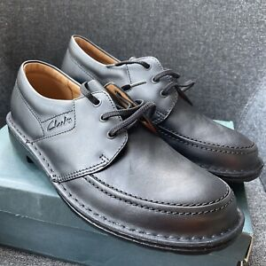 Clarks Wurley Black Leather Shoes Size 12