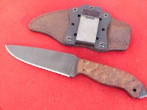 "Winkler Knives sculpted maple 5.25"" black 80CrV2 carbon drop point WK018 knife"