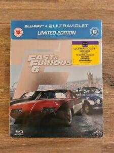 Fast & Furious 6 (Blu-ray Steelbook, Region B) - Brand New and Sealed