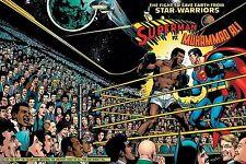 MUHAMMAD ALI vs  SUPERMAN 8X10 PHOTO BOXING PICTURE COLOR