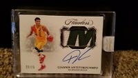 2019-20 Flawless Giannis Antetokounmpo AUTO LETTER PATCH 22/25 BUCKS MVP 2018-19