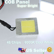 1 pc New 48 chips COB LED Panel Light w/ T10+Festoon+BA9S Adapters Xenon White
